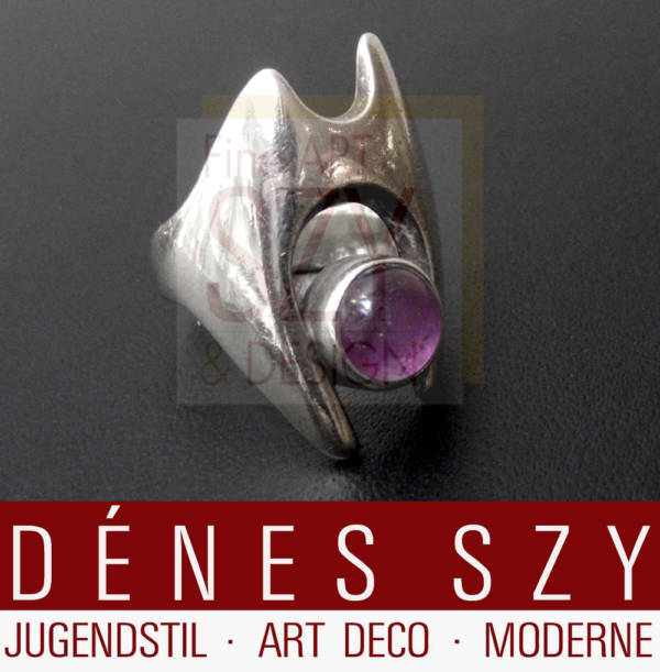 Modernist Georg Jensen silver jewelry ring 139