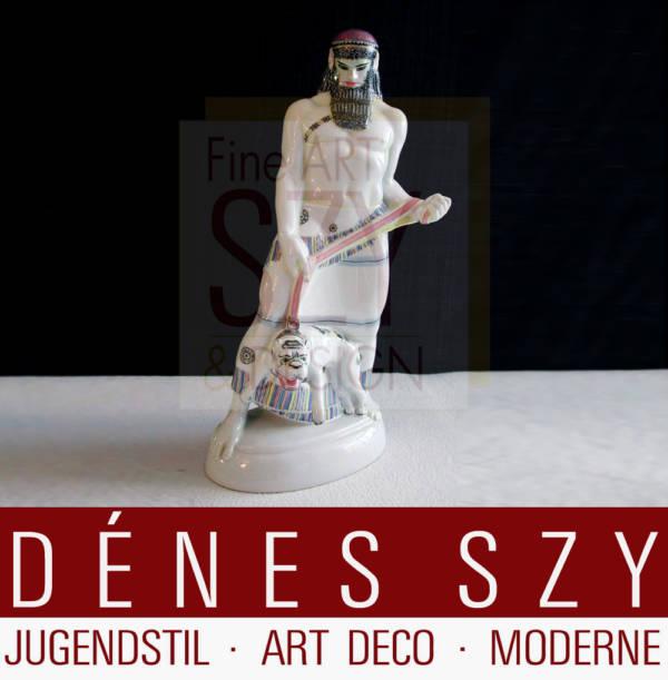 KPM Berlin Porzellan Figur, Art Deco Assyrer Hochzeitszug Amberg