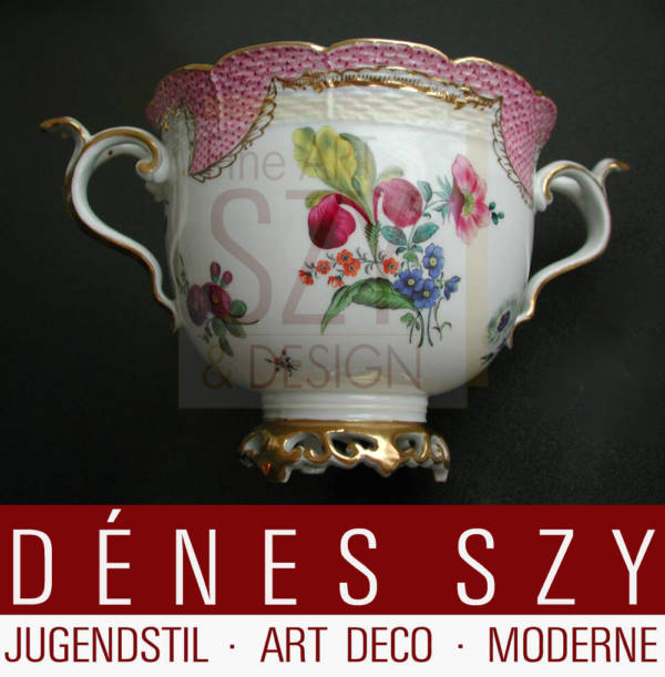 Herend Porzellan Henkelschale 19 Jh Ungarn