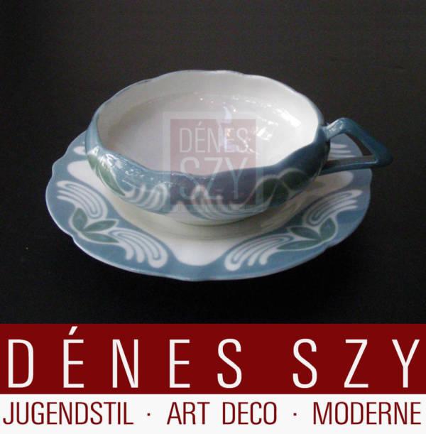 Meissener Jugendstil 1901/02 Porzellan Teetasse Kleeblattmuster