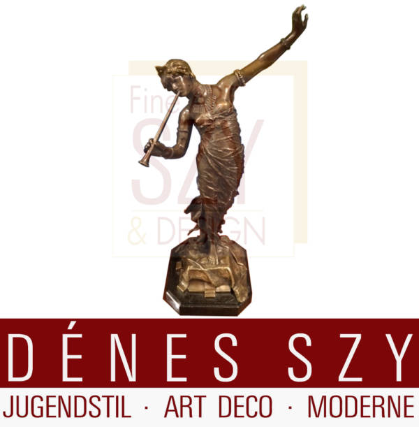 Bronze Orientalische Tänzerin 1888 Franz Rosse Berlin