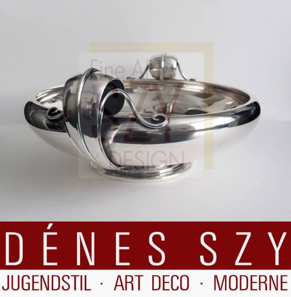 Dänische Art Deco Silber Schale P Hertz 1936