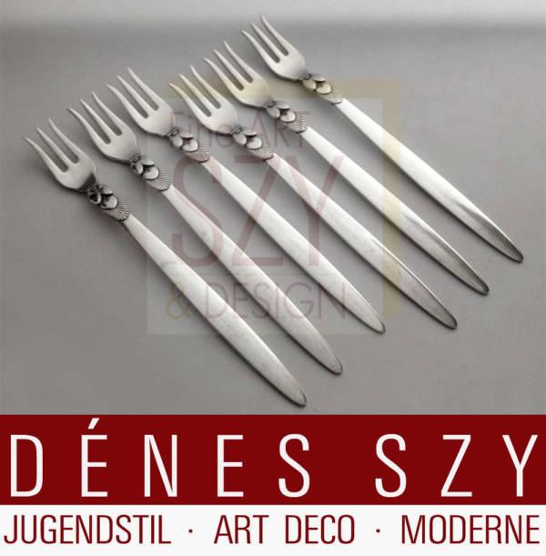 Georg Jensen Silber Kaktus 30, Seafood fork
