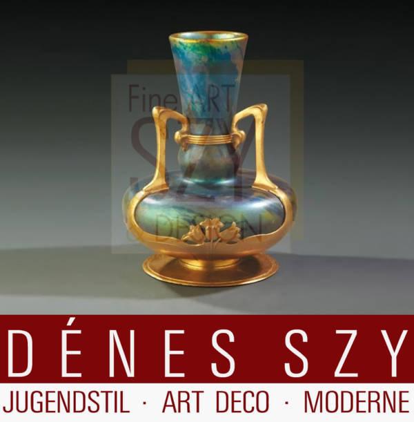 vaso in stile liberty, Vilmos Zsolnay ed OSIRIS 1900