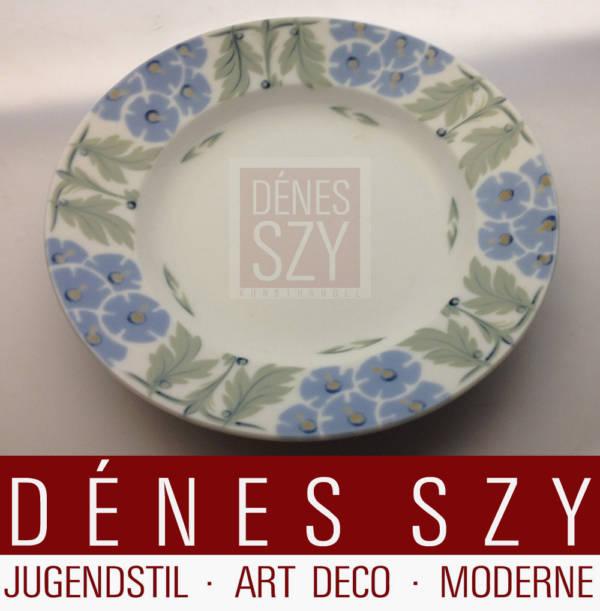 Meissen Jugendstil Porzellan Dessert Teller Primelmuster 1906