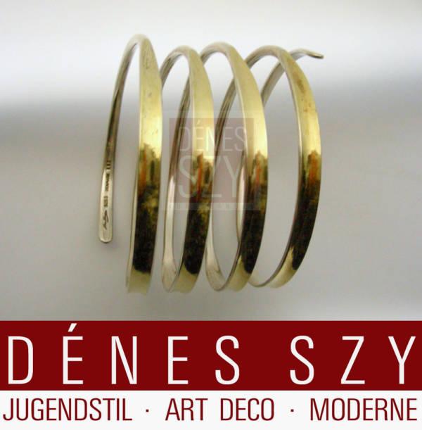 1950er Design Hans Hansen Sterling Silber Armreif 297 Handmade