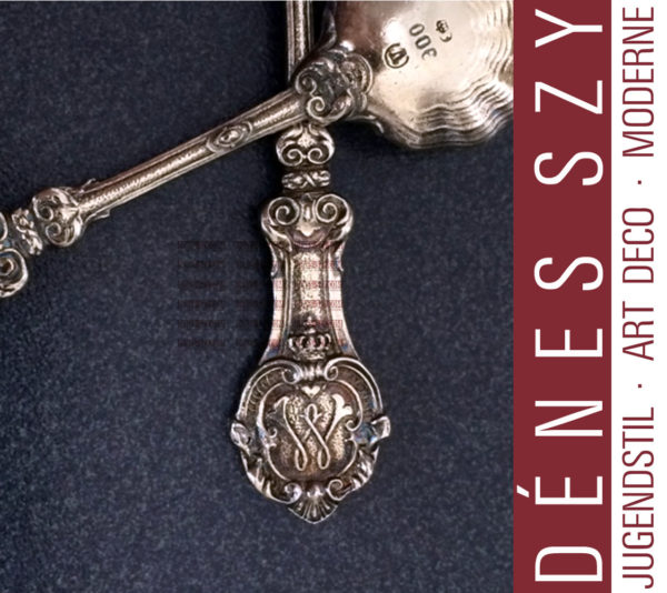 The Prussian Royal House, Wilhelm, German silver spice spoon, Berlin 1881