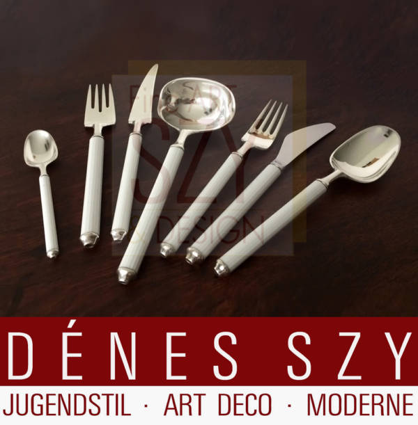 Rosenthal, Hans Hansen, handmade Modernist Sterling silver cutlery