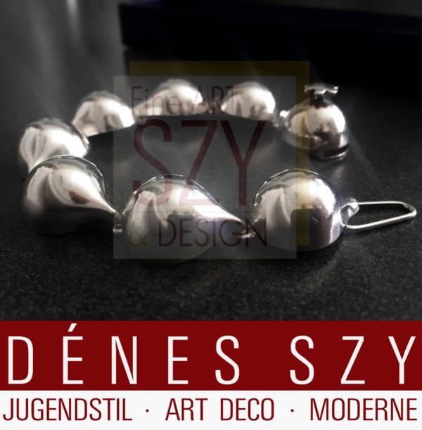 Hans Hansen Art Deco handmade Sterling Silver Armband No 246