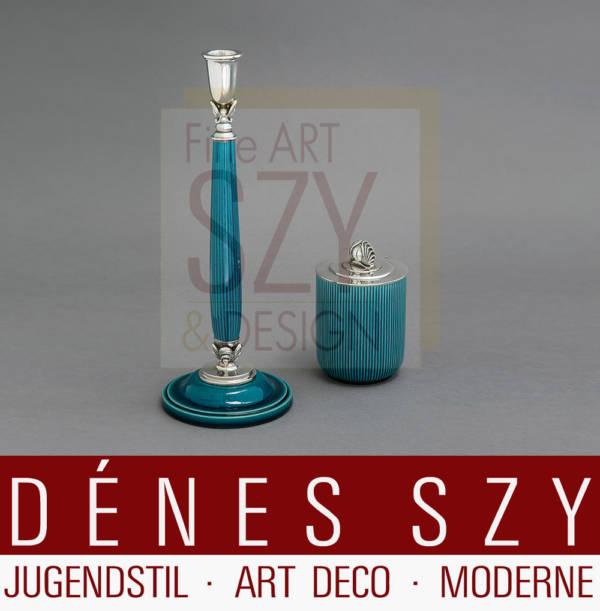 Georg Jensen Silber Bing & Grondahl porcelain Leuchter 4001