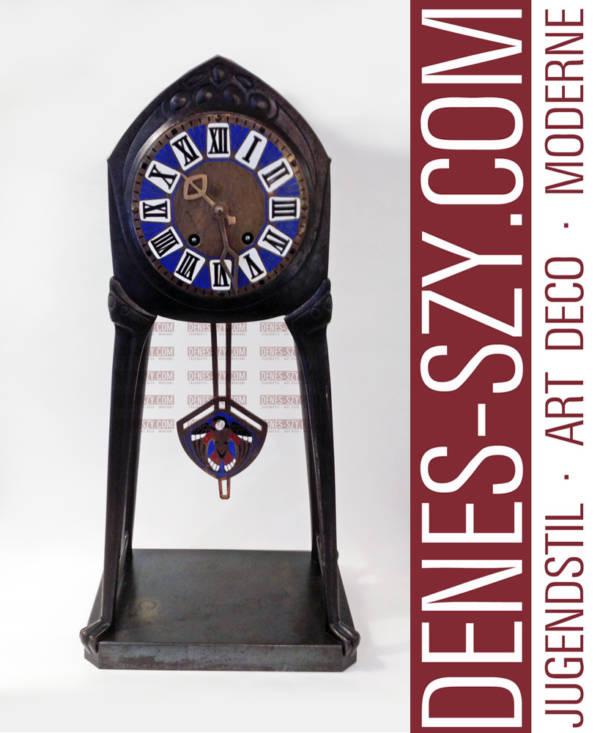 Albin Mueller Darmstadt 1900, Uhr, Eisen
