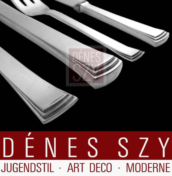 Evald Nielsen No. 32 Kongo pattern handmade silver cutlery