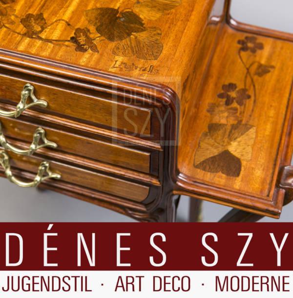 Louis Majorelle, Nancy Art Nouveau marquetry side table