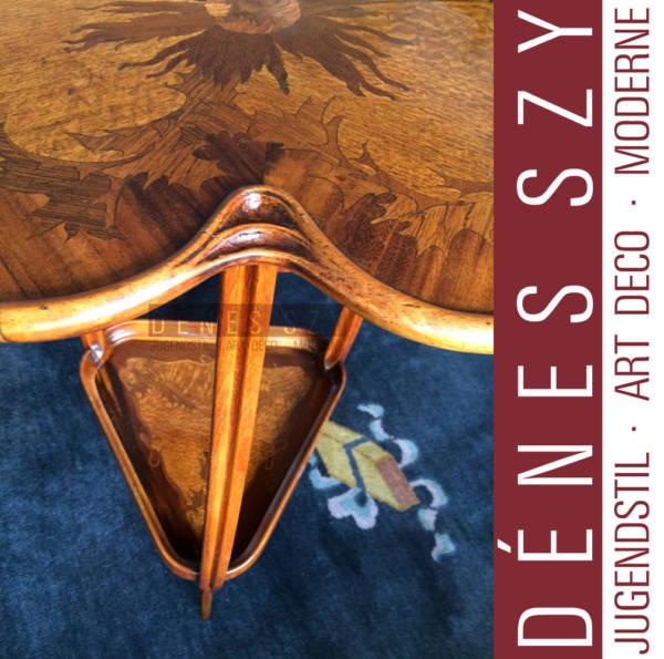 Louis Majorelle Nancy 1900 Art Nouveau side table marquetry