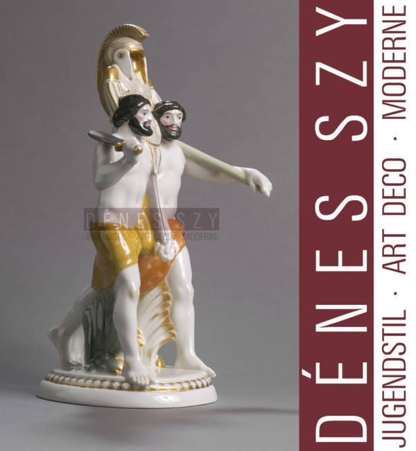 wedding trail Royal KPM Berlin porcelain figurine by Amberg two etruscans