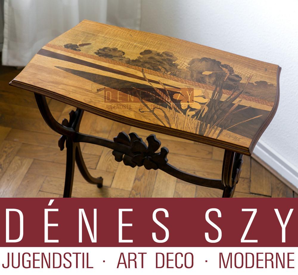 Emile Gallé Nancy Art Nouveau Salon Furniture Side table ...