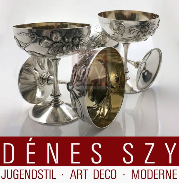 Wolfers FRÈRES Bruessel Sterling Art Nouveau Sektkelche
