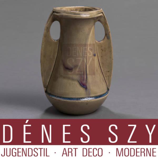 Henry van de Velde Art Nouveau Steinzeug Vase Hanke 2117