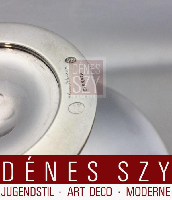 Hans Hansen Sterlingsilber Tazza Art Deco