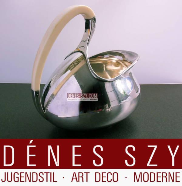 A F Rasmussen Sterling Denmark SOLV Art Deco Sauciere