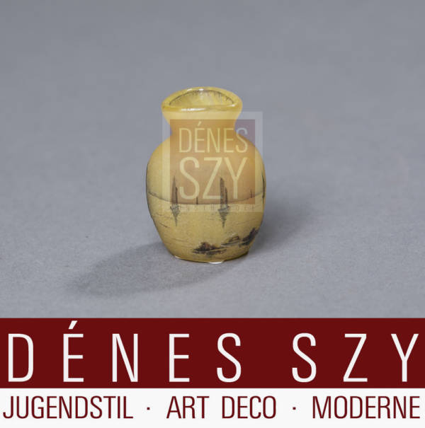 Daum Nancy, marine scenic miniature cameo glass vase
