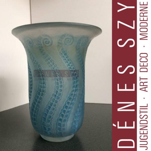 René Lalique, Vase opalisierend, Meduse 1921, formgepresst
