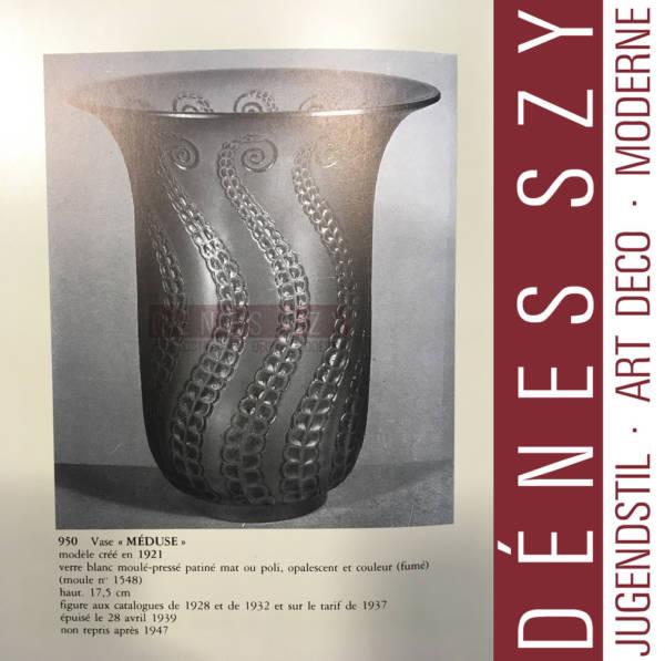 R. Lalique, Vase opalisierend, Meduse 1921, Literatur