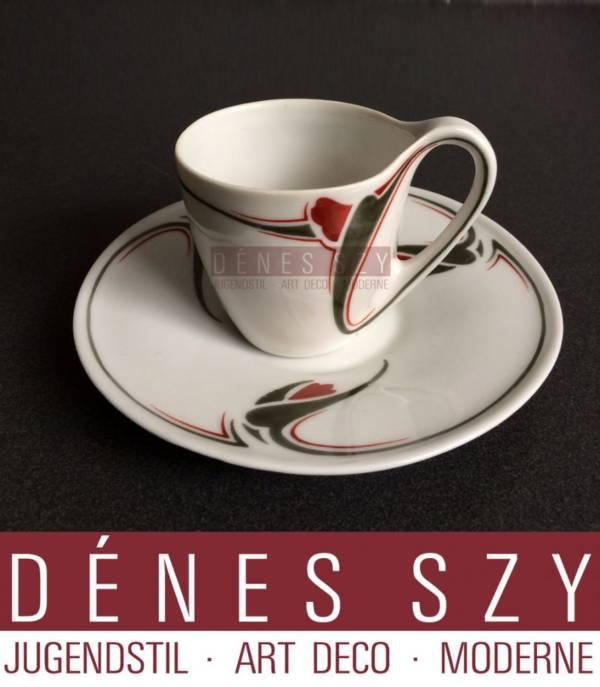 tazza con piattino porcellana stile liberty