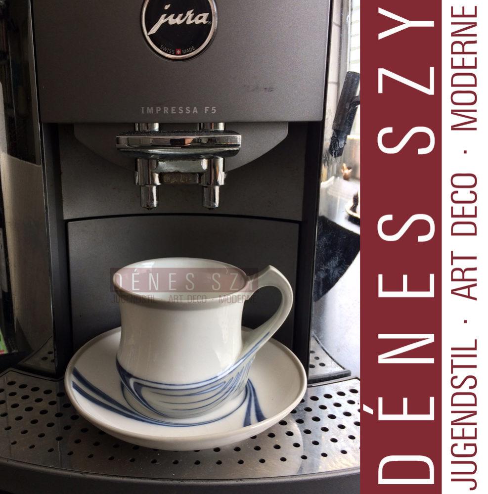Kaffee Tasse, Unterglasur Farben, Schwertermarke, Saxonia Serie