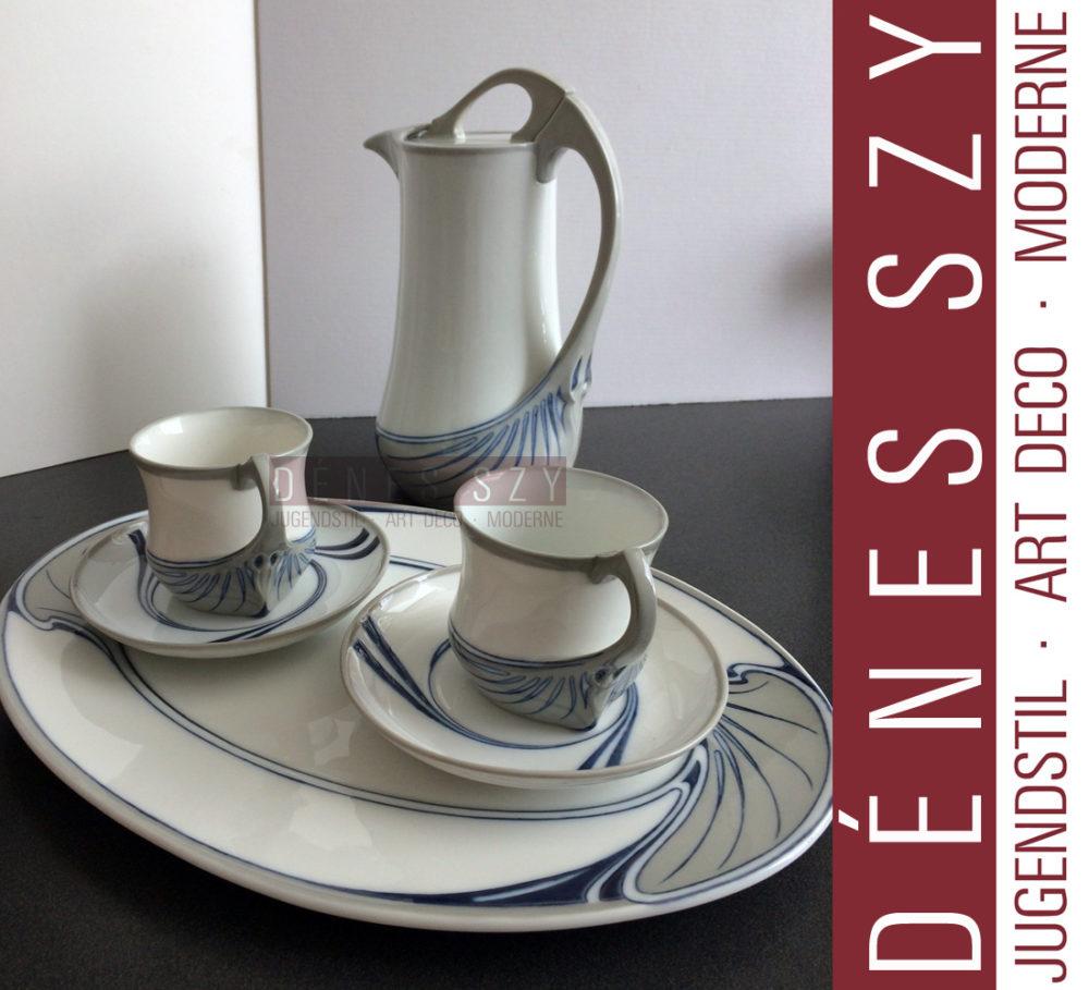 Kaffee Tasse, Service Unterglasur Farben, Schwertermarke, Saxonia Serie