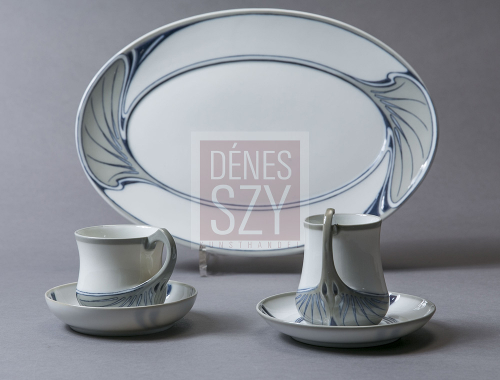 Meissen Art Nouveau china Chocolate cups by Otto Eduard Voigt Germany 1900 : meissen dinnerware - pezcame.com