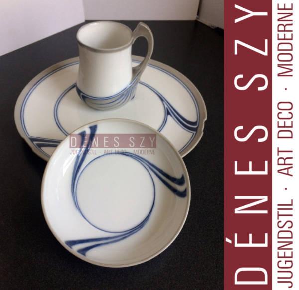 Dessertteller, Unterglasur Farben, Schwertermarke, Saxonia Serie