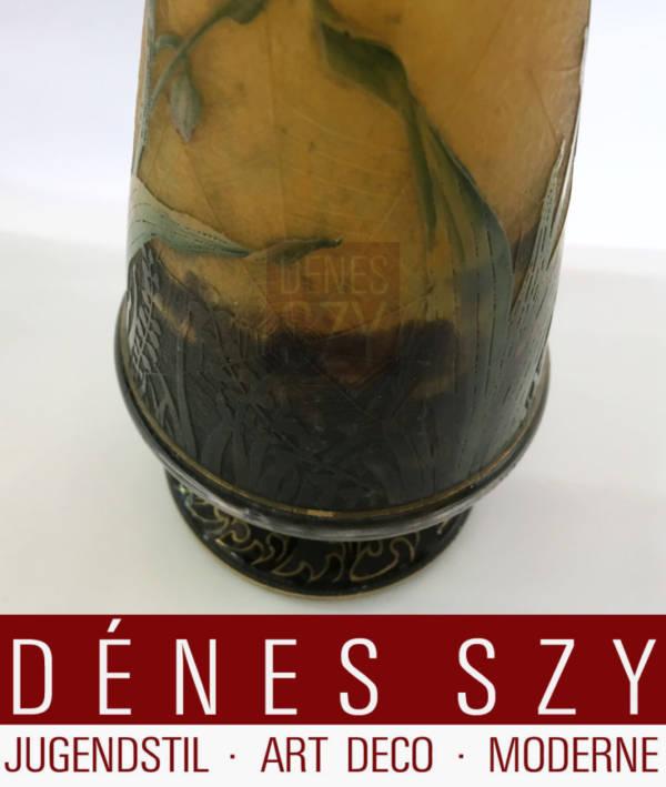 Daum Scuola di Nancy Paris 1900 Art Nouveau vaso