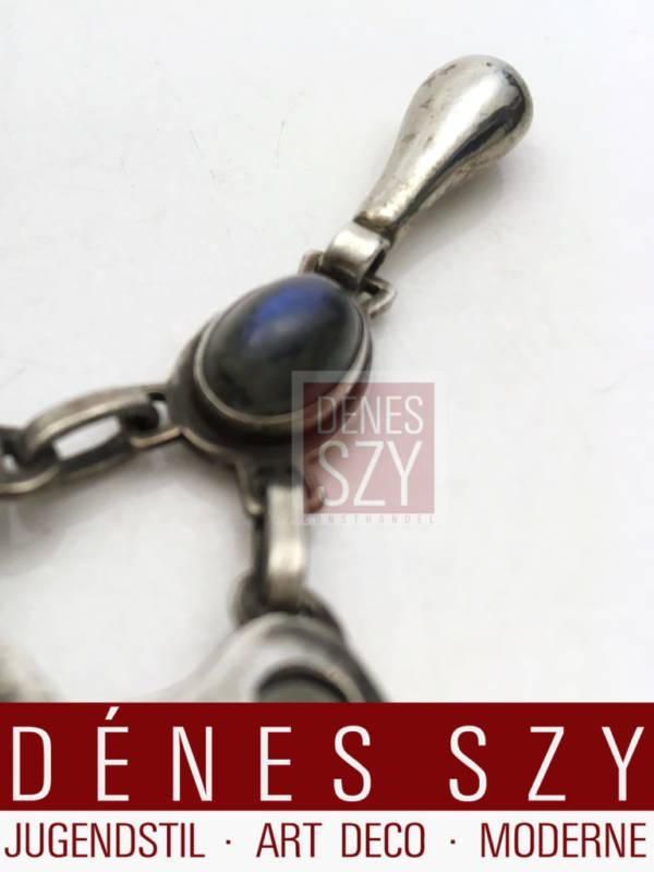 spilla argento Sterling di Georg Jensen epoca liberty con labradorita