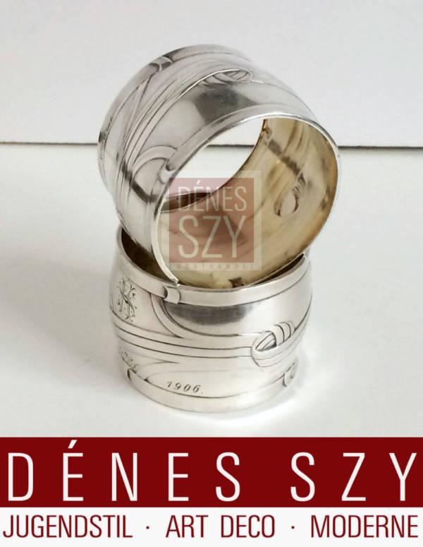 Orivit portatovagliolo in argento epoca Liberty Colonia verso 1900