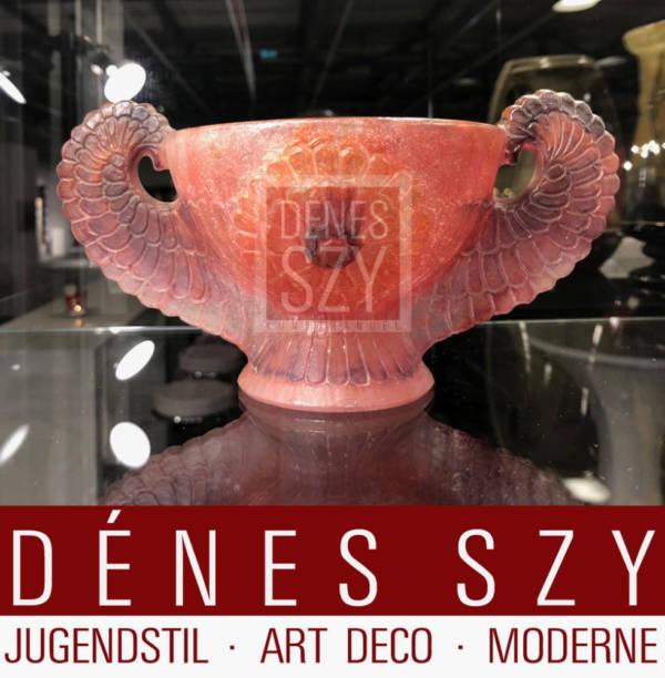 Art Deco ARGY ROUSSEAU pate de verre Schale