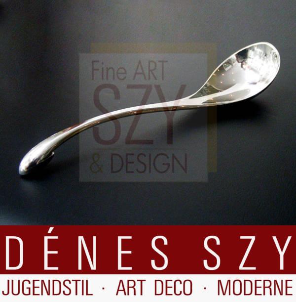 Art Deco danish Hans Hansen Handmade aresolv Silber Saucenlöffel