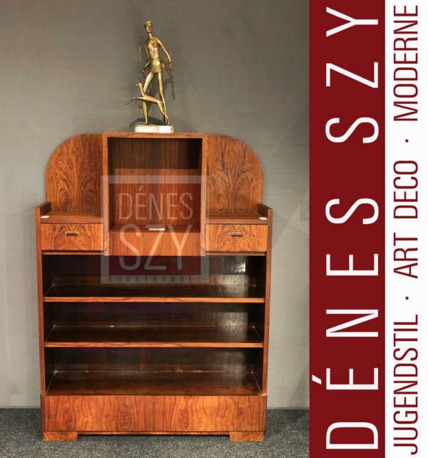 Art deco Furniture, Cabinet, Brazil Rosewood, designed by Henry van de Velde for George Bohy, Bruxelles