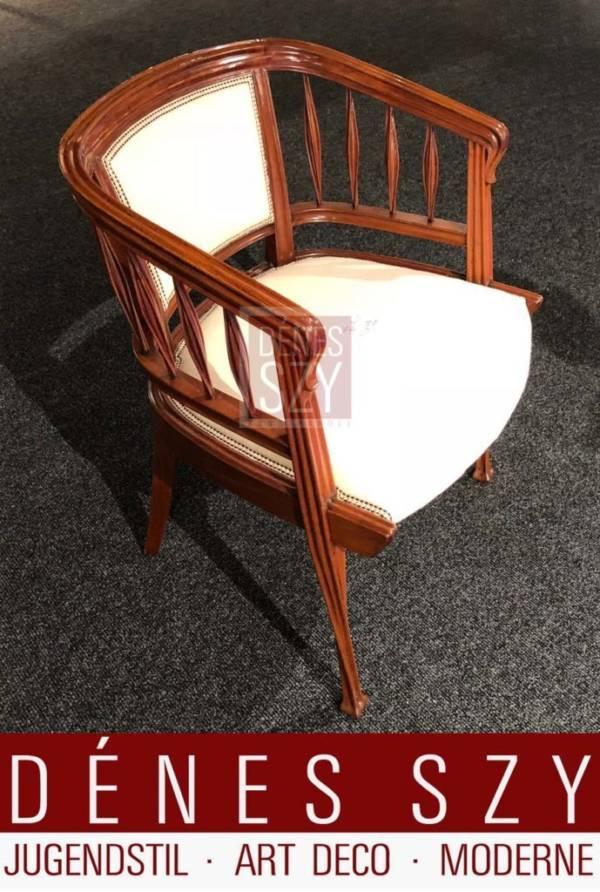 Louis Majorelle Nancy 1900 Art Nouveau acajou fauteuil