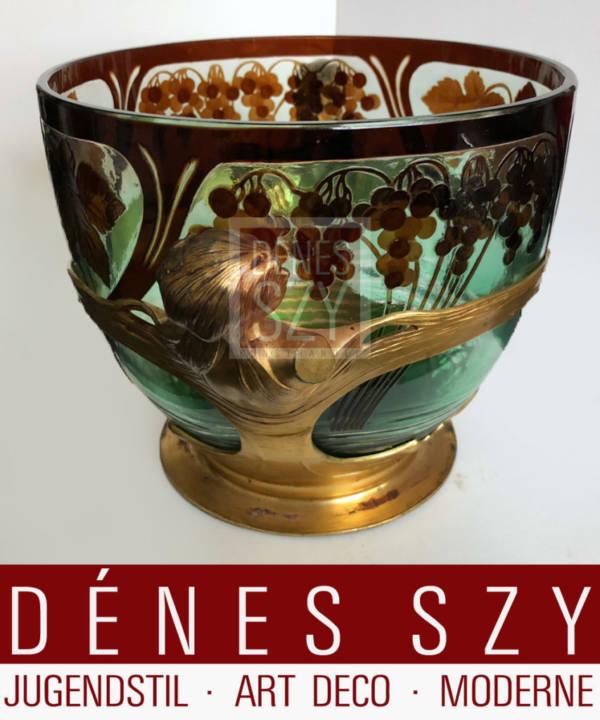 Vaso punch Art Nouveau di Orivit, Colonia verso 1900