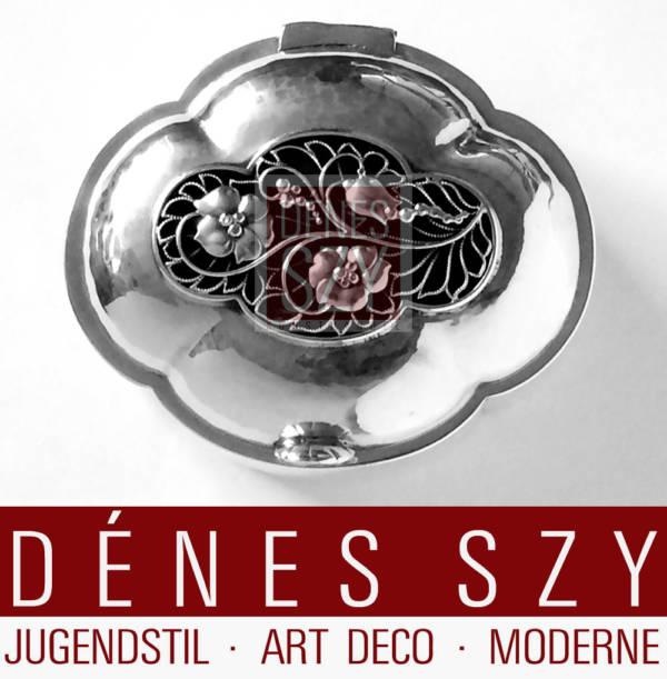 Georg Jensen Sterling Silber Dose 114 A Johan Rohde Design