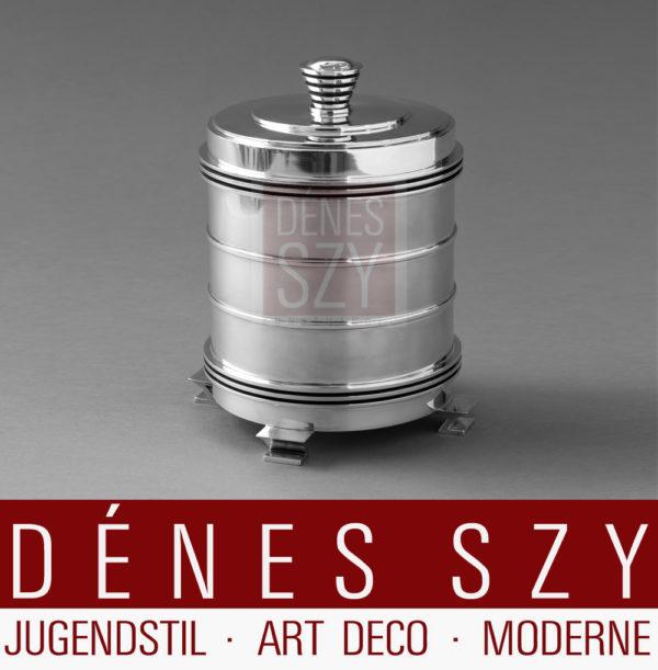 Georg Jensen Sterling Silber Art Deco, Taback Bisquit, Keks Dose, Canister 796 by JJ
