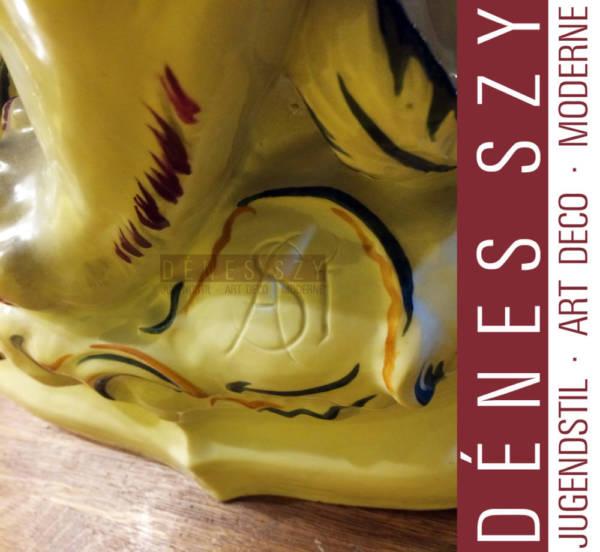 Der Hoellenhund, Großplastik als Teil der Ausstattung fuer die Eroeffnung des Leipziger Porzellan Palais 1921, entworfen von Arthur Storch, ausgefuehrt von der Aeltesten Volkstedter Porzellan Manufaktur