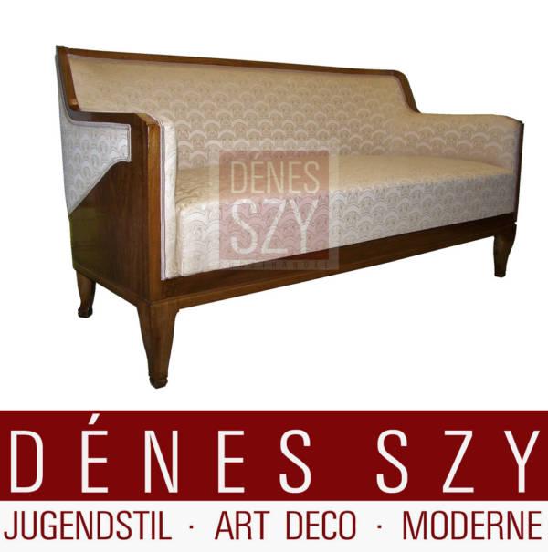Jugendstil Sofa von 1916, entworfen von Henry van de Velde, Auftragsarbeit