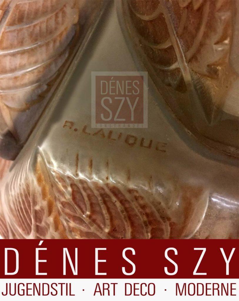 Lalique Glas Deckenlampe Noisetier