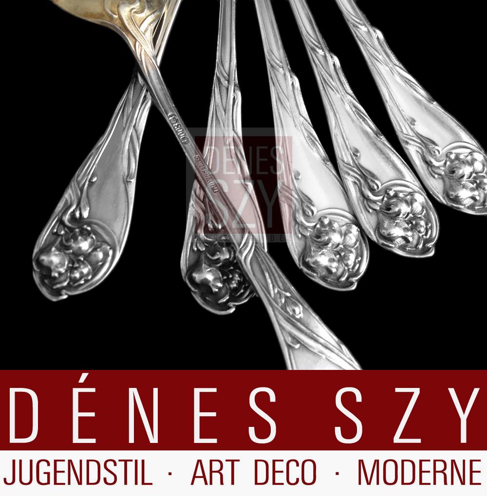 Jugendstil Silber Besteck Muster Iris Denes Szy Kunsthandel