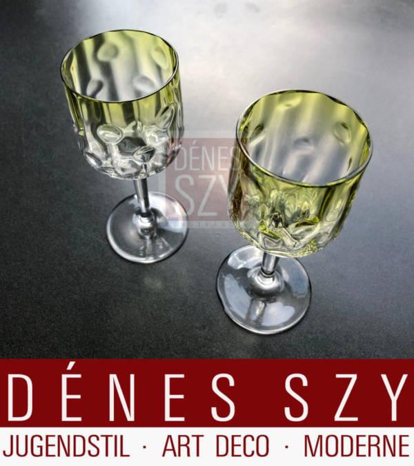 """Vienna Secession, verre à vin """"Meteor"""", Design: Kolomann Moser, Vienne vers 1900, Exécution: Neffe de Meyr, Adolf pour E. Bakalowits, Vienne vers 1900"""