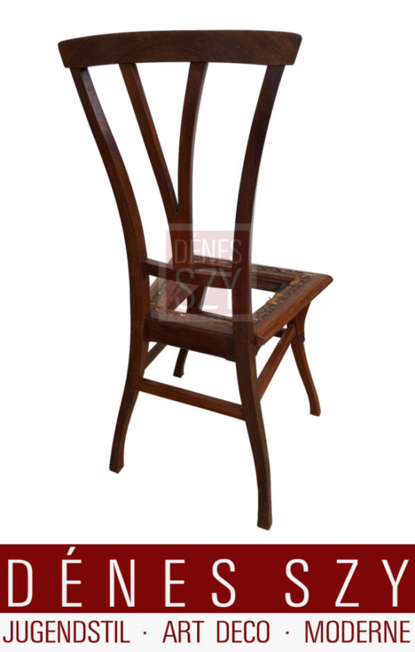 Der Bloemenwerf Stuhl, Jugendstil, African Padauk von Henry van de Velde Uccle, Brüssel