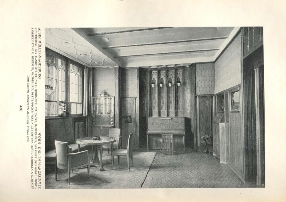 Dekorative Kunst Band 14 von 1906, Abbildung Albin Mueller Notenstaender