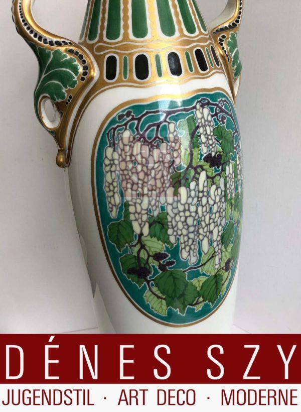 KPM Berlin, Jugendstil Vase, Dekor W. Stanke